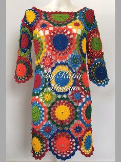A MAGIA DO CROCHÊ - Katia Missau: Lançamento: Receita Vestido Colorido em Pdf e Impressa