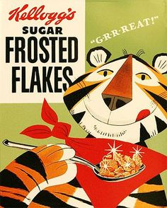 Kelloggs Frosted Flakes Cereal X Fridge / Locker Magnet. Tony the Tiger for Like the Kelloggs Frosted Flakes Cereal X Fridge / Locker Magnet. Tony the Tiger?