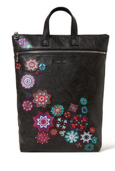 Desigual Multifunctional Black Bag/Backpack Back Nanit Baza Pink Art, Grey Fashion, Kauai, Color Negra, Bowling, Wallets For Women, Backpack Bags, Diaper Bag, Chelsea