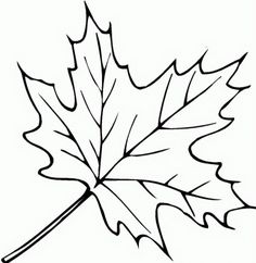 simple leaf colouring pages - Google Search