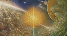 """Light Voyagers"" Mark Henson Oil On Canvas 36x78 1982"