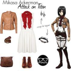 Mikasa Ackerman Closplay by closplaying on Polyvore featuring Topshop, Vero Moda, Jones New York, MANGO, FOSSIL and Mikasa