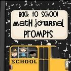 This packet contains 30 cut  paste math journal prompts that are designed to encourage your students to stretch their mathematical thinking at...