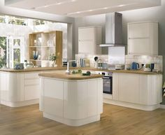 Bayswater Gloss Ivory Kitchen | Contemporary Kitchens | Howdens Joinery