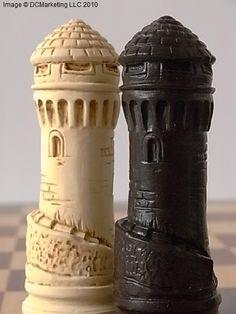 Camelot Plain Theme Chess Set (Large)