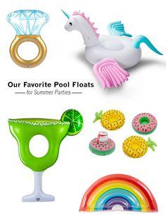 Best Pool Floats for Summer // unicorn pool float // drink holder inflatable pool float // margarita pool float //