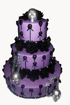 Halloween wedding cake!