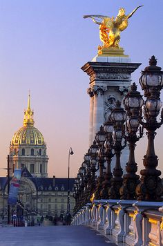 Pont Alexandre III n Hotel des Invalides, Paris_ France Paris Travel, France Travel, Paris France, Monuments, Pont Paris, Hotel Des Invalides, Tuileries Paris, Beautiful Paris, Places To See