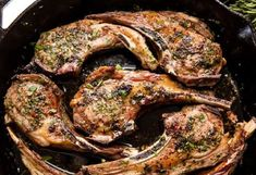 Garlic Herb Lamb Chops are easy to make and taste like they came from a high end restaurant. You'll impress everyone at the table with this delicious lamb recipe! No need to be intimidated by making l Lamb Chop Recipes, Crockpot Recipes, Crockpot Lamb, Lamb Loin Chops, Mint Sauce, Cuisine Diverse, Chops Recipe, Seasonal Food, Dinner Is Served