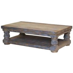 Furniture Source International Occasional Tables Coastal Farmhouse Old Wood Distressed Coffee Table - CocktailTableDealers.com