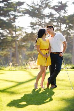 Golf engagement photos - need some shots with me acting my usual role as his caddy