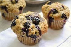 Blueberry Oatmeal Protein Muffins