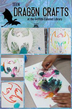 Griffith-Calumet Township Branch of the Lake County Public Library - Lake County Public Library Library Themes, Teen Library, Teen Programs, Library Programs, Fantasy Craft, Dragon Birthday, Summer Reading Program, Dragon Crafts, Teen Summer