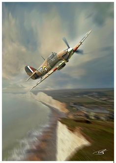 Dover, by Peter van Stigt (Hawker Hurricane Mk I, 17 Sqn RAF, September Ww2 Aircraft, Fighter Aircraft, Military Aircraft, Fighter Jets, Supermarine Spitfire, Ww2 Spitfire, Aircraft Painting, Airplane Art, Ww2 Planes