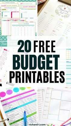 finance printables Here are 20 AMAZING and useful FREE budgeting printables which you need to use to get your life in order! Budgeting templates play an important role in setting yourself up for financial success!