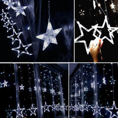 Twinkle Star 12 Stars 138 LED Curtain String Lights, Window Curtain Lights with 8 Flashing Modes Decoration for Christmas, Wedding, Party, Home Decorations (Warm White) Twinkle Star, Twinkle Twinkle, Christmas And New Year, Christmas 2019, Christmas Wedding, Curtain Lights, Window Curtains, String Lights, Outdoor Gardens
