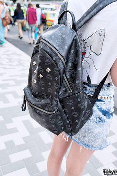Black MCM Backpack in Harajuku 0bcf2afa4871f