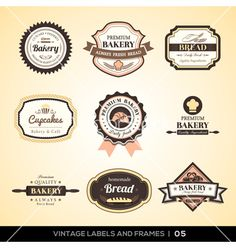 Logo Ideas  Vintage bakery logo labels and frames vector 1546447 - by kraphix on VectorStock®