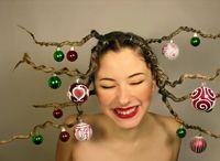 Penteados de Natal   Cabelos e makes produzidos com temas natalinos