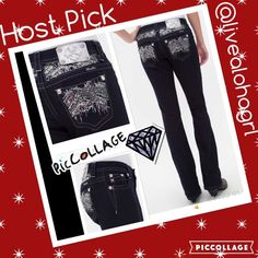 Miss Me glitter NWT 27/33 easy boot last pair  just in miss me easy boot dark denim sparkle rhinestone and sequin   Mid rise 27/33. Last pair.  Sells out quickly ladies.  Miss Me Jeans Boot Cut