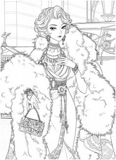 Princess Coloring Pages, Coloring Book Art, Cute Coloring Pages, Colorful Drawings, Art Drawings, People Coloring Pages, Printable Adult Coloring Pages, Sailor Moon, Sketches