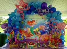 Disney Party Ideas:  Little Mermaid party