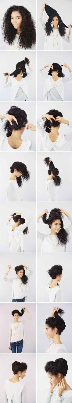 Ou, vá com esse penteado romântico.