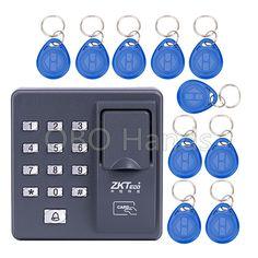 Door electric RFID reader biometric recognition fingerprint access control system X6+10pcs keyfobs