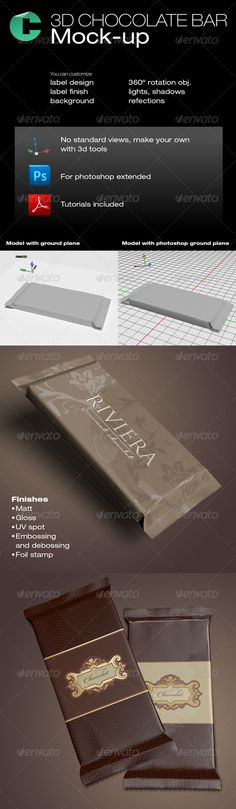 3d Object - Chocolate Bar  #GraphicRiver         This product is compatible with…