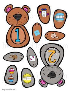 Build a Bear Digraph Match - Frogs and Fairies Preschool Centers, Numbers Preschool, Free Preschool, Preschool Worksheets, Math Resources, Math Centers, Learning Numbers, Kindergarten Math, Teaching Math
