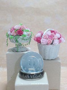 handmade Miniature basket dollhouse  ミニチュア バスケット