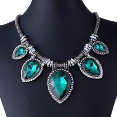 5794ae30abb Fashion Jewelry Silver Snake Chain Chunky Choker Statement Pendant Bib  Necklace #Fashion #Jewelry #