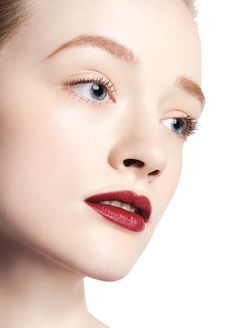 Liv O'Driscoll for Joe Fresh Beauty, wearing burgundy lipstick from the New Neutrals Face Palette