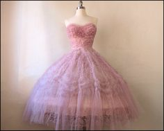 Perfect Pink 1950s Tulle & Lace Party/Prom by FirstLoveLastLove