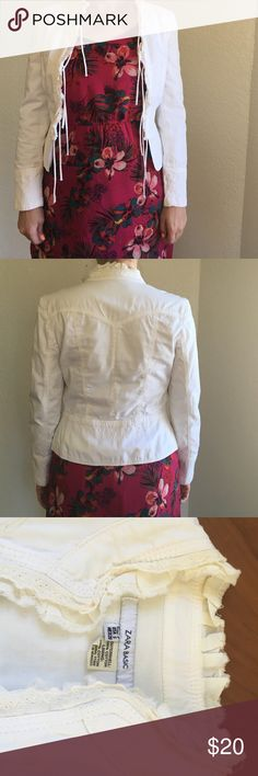 Zara jacket . Like New, worn 1 time Size S. No marks. No spots. On small side.like xs Zara Jackets & Coats