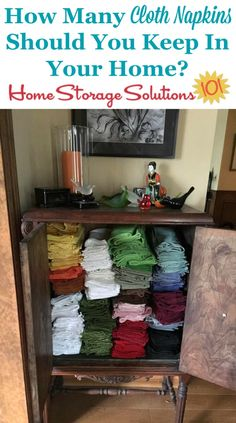 How Many Cloth Napkins Should You Keep In Your Home When Decluttering {on  Home Storage Solutions 101}