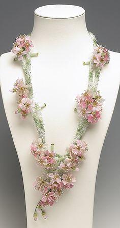 Hiroko Toda - Sakura, Beaded Necklace