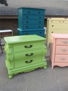 in love with the green dresser, would have went with a different color but the woodwork is awesome