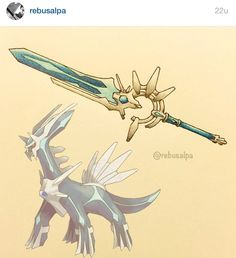 Edge of Time, a Pokemon-style sword  Artist: @Rebusalpa on Instagram