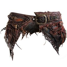 SK-0560 Apocalyptic Brown Skirt Utility Belt