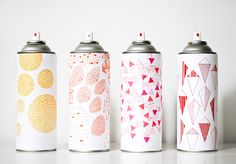 illustrated paint cans by marsha golemac.