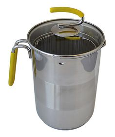 Love this Yellow Stainless Steel Covered Stockpot on #zulily! - Kuhn Rikon- holds 12 cups- 6 in. by 8 in.- $21.99 #zulilyfinds