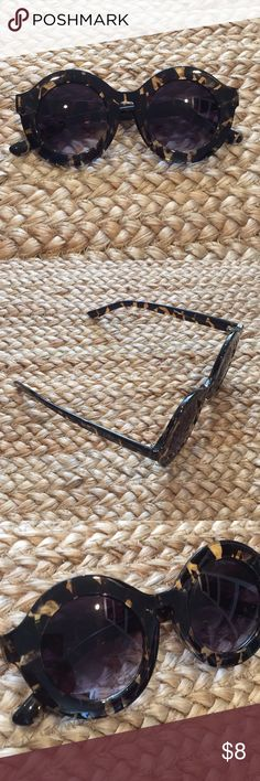 Cute turtle shell sunglasses Never used sunglasses. Accessories Sunglasses