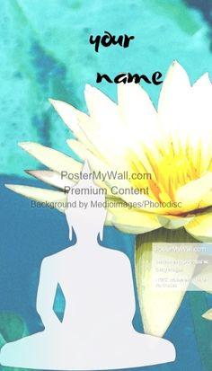 yoga bussiness studio teacher name card