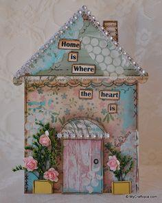 Mixed Media House Card