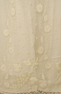 Hem detail from c1810 dress. Met museum