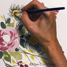 Watercolor Fall Flowers Tutorial in Real Time/ Painting tutorial/ Easy for beginners/ Watercolor Paintings For Beginners, Watercolor Video, Watercolour Tutorials, Watercolor Flowers, Watercolor Art, Easy Flower Painting, Acrylic Painting Flowers, Art Floral, Flower Tutorial