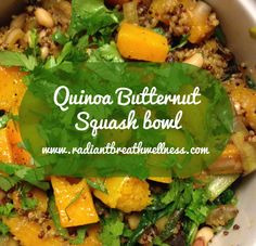 Quinoa Butternut Squash Bowl | use eggplant instead of mushrooms