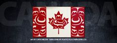 Canadian Flag design by First Nations Artist Curtis Wilson and fabricated in plastic by Plastics Plus Fabricators in Campbell River, BC