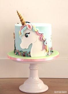 Square Birthday Cake, Unique Birthday Cakes, 1st Birthday Cakes, Unicorn Cake Design, Beautiful Cake Pictures, Cake Models, Little Pony Cake, Baby Girl Cakes, Square Cakes